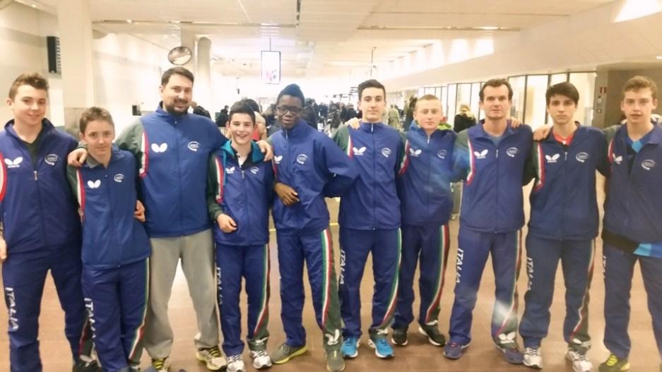 Squadra Juniores e Cadetti all'Open di Svezia (Foto Fitet)