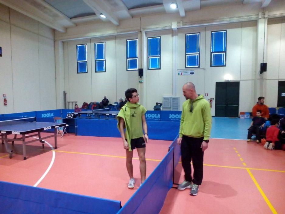 Andrea Perna col tecnico Christian Ferro (Foto Alberto Cualbu)