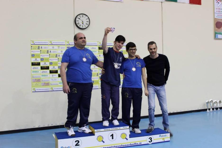 Il podio dei paralimpici (Foto Eleonora Piras)