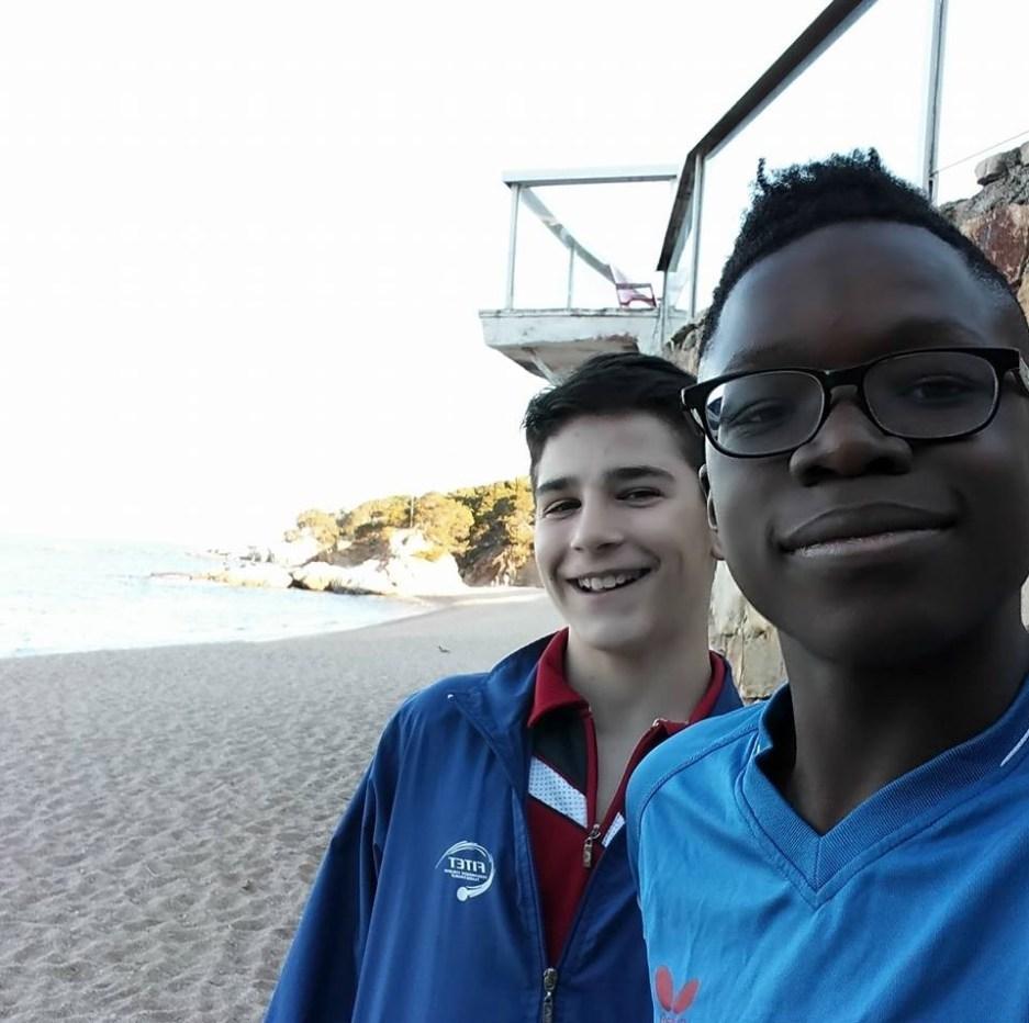 Un selfie con Carlo Rossi e Johnny Oyebode