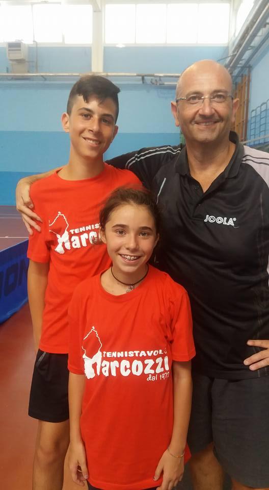 a dx il tecnico Sandro Poma con il figlio Marco e Rossana Ferciug
