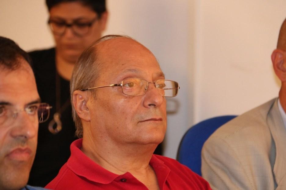 Sergio Ticca in assemblea (Foto Gianluca Piu)