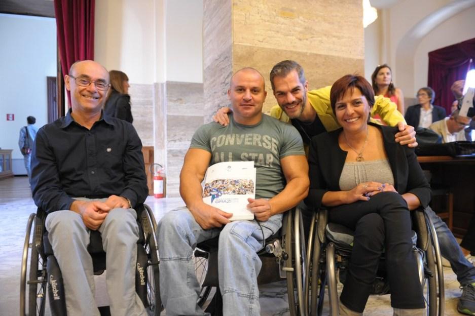 Il Presidente della Fitet Sardegna Simone Carrucciu con i suoi colleghi della giunta Cip Sardegna