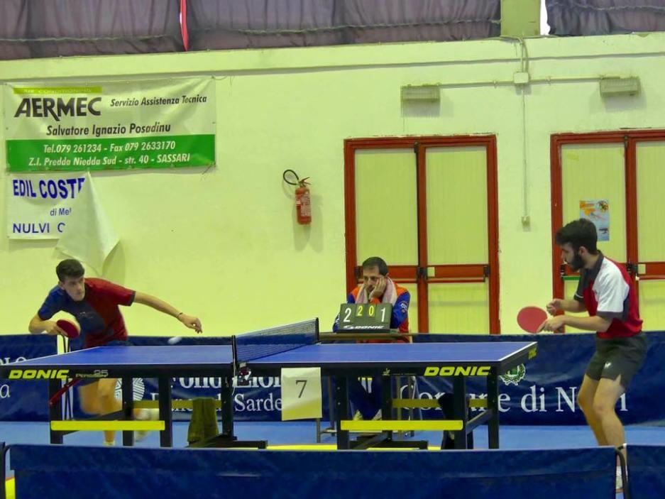 Il match tra Francesco Ara e Giovanni Zavattaro (Foto Santa Tecla Nulvi)