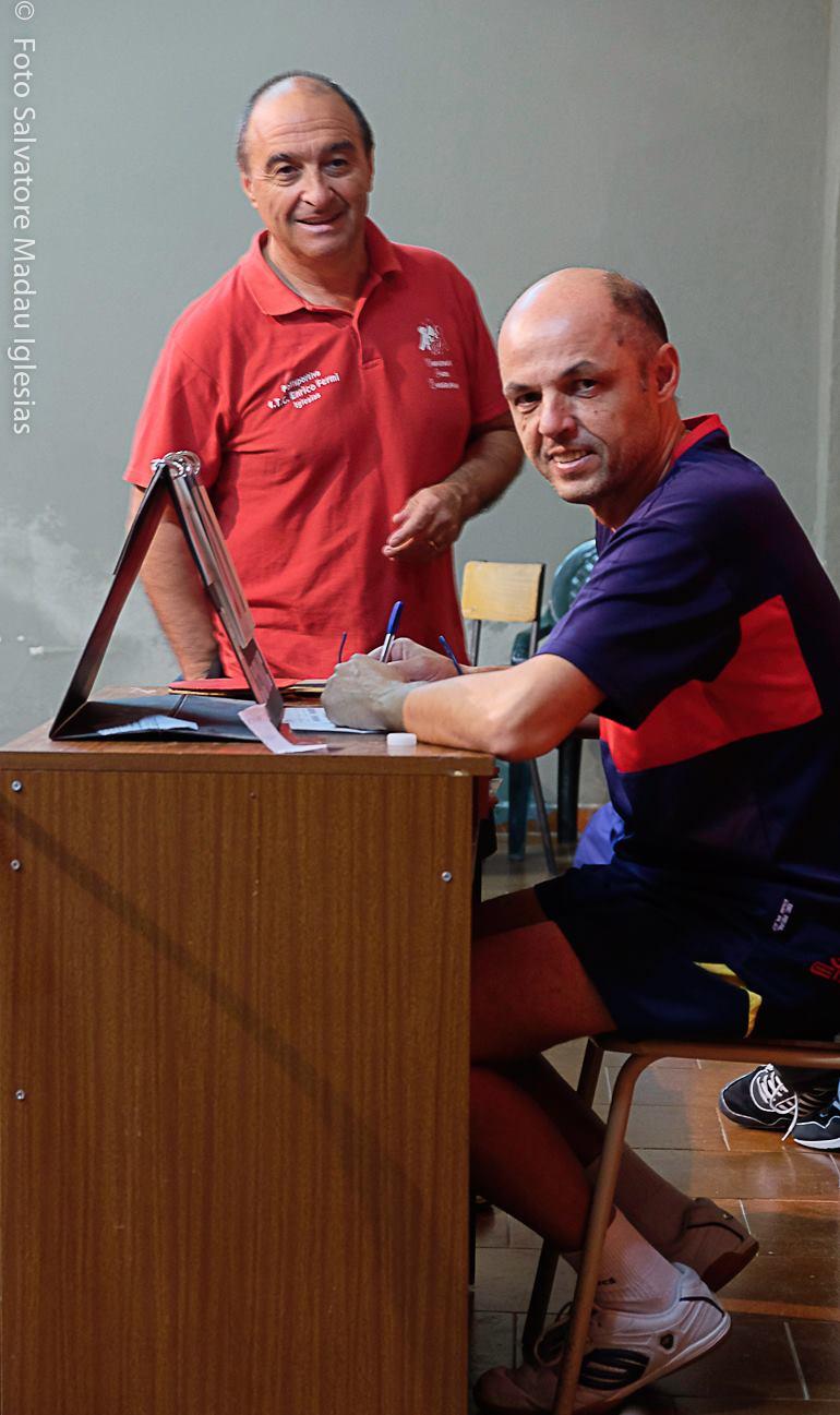 Giancarlo Pili e Giovanni Siddu (Foto Salvatore Madau)