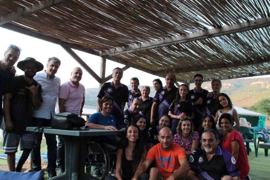 Alcuni protagonisti della giornata paralimpica di Nurri (Foto Tore Curreli)