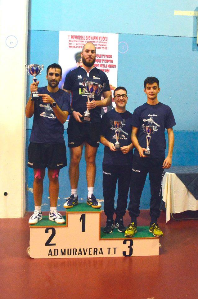 Il podio Terza maschile (Foto Luciano Saiu)