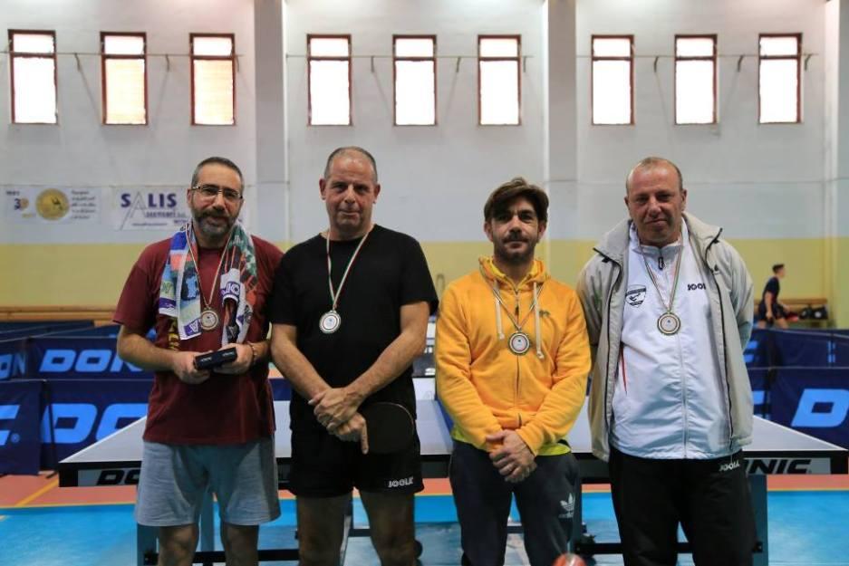 Podio Torneo Veterani Decimomannu (Foto Tomaso Fenu)