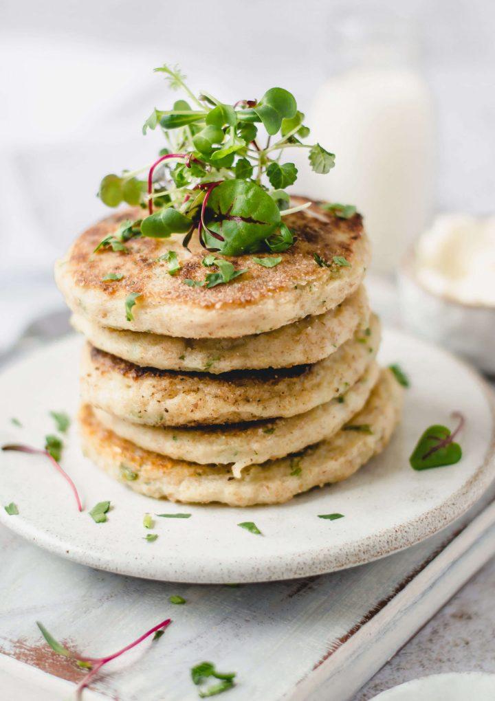 Vegan Potato Cakes Stack
