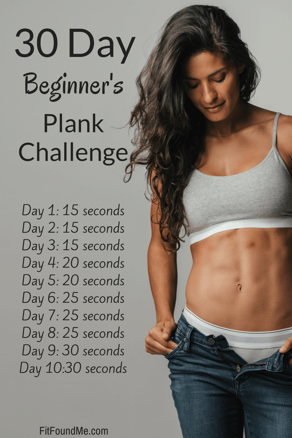 woman with toned muscles after 40 by doing beginners plank challenge