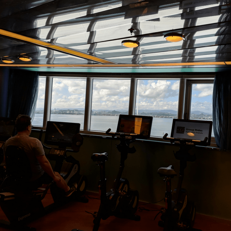Andrew exercising while on vacation