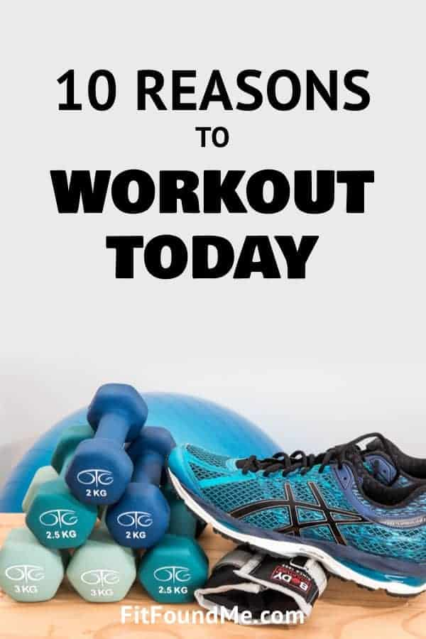 Printable workout motivation poster with tennis shoes, weights and bosu ball