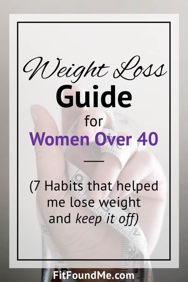 healthy habits to lose weight for women after 40