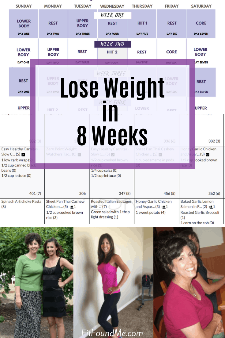 meal plans, printable workout calendar, 8 week weight loss program for weight loss for women