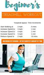 Overweight lady on treadmill for workout