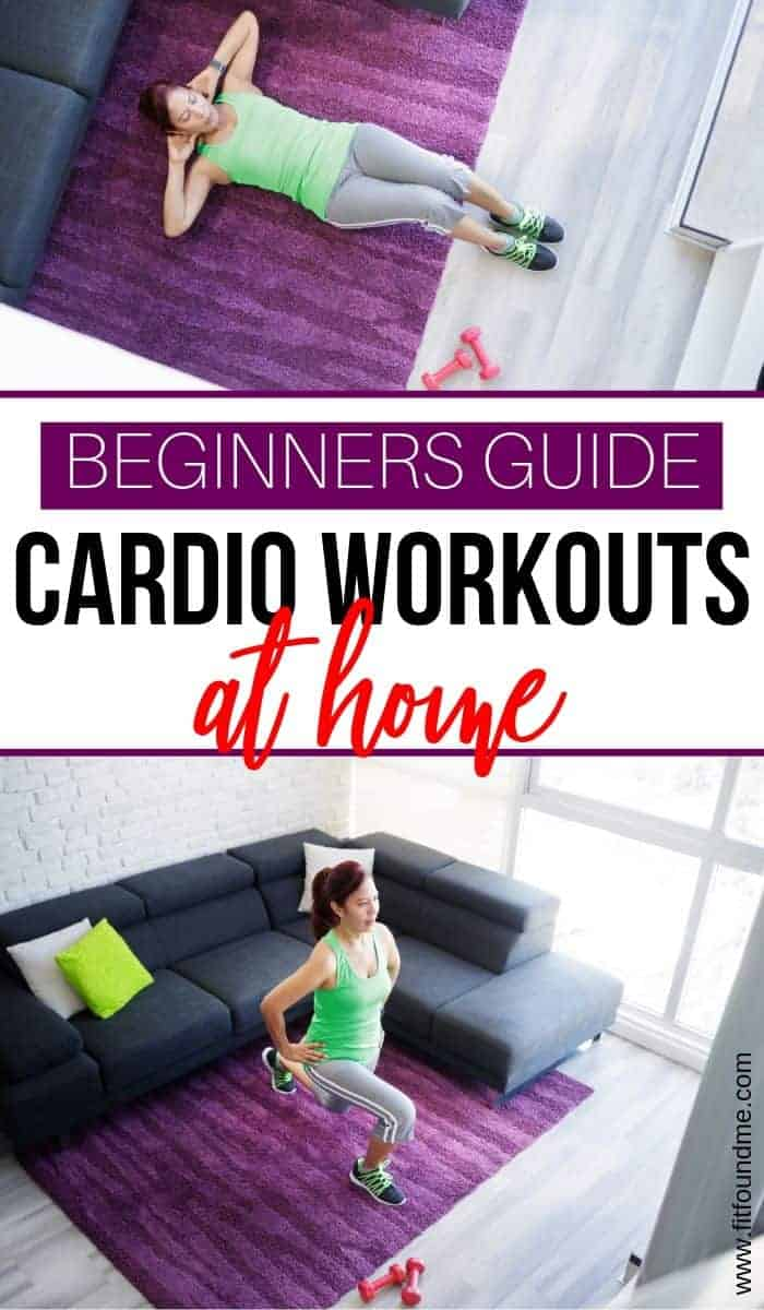 beginners guide to cardio workouts at home woman working out at home