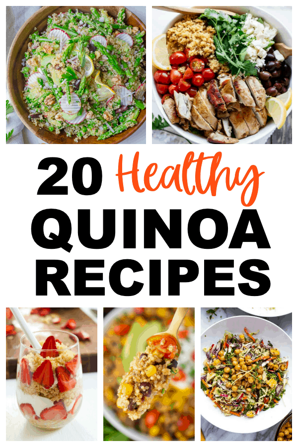 various images of quinoa recipes