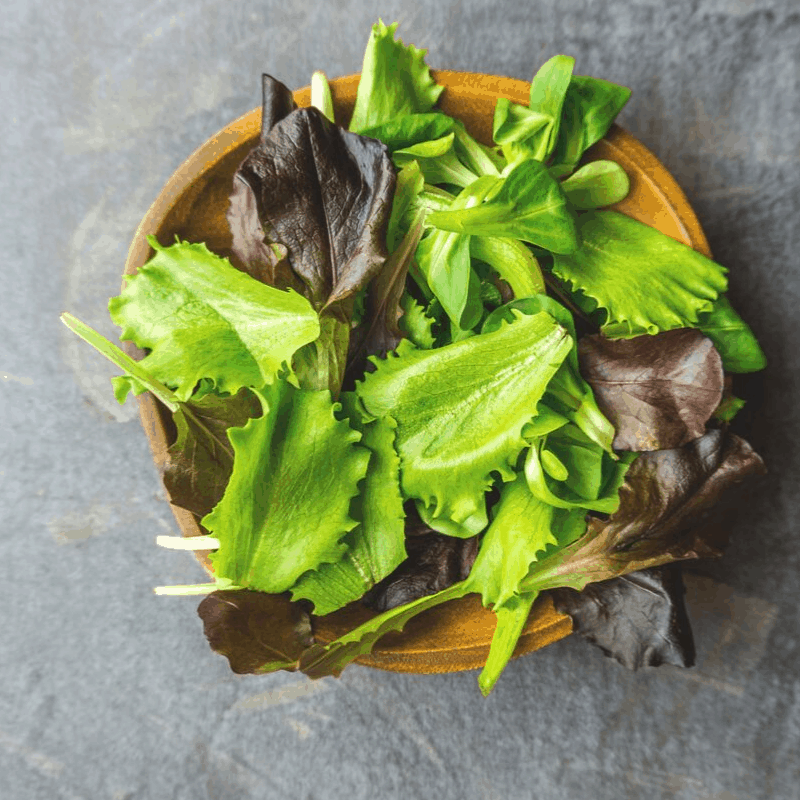 bowl of dark leafy greens
