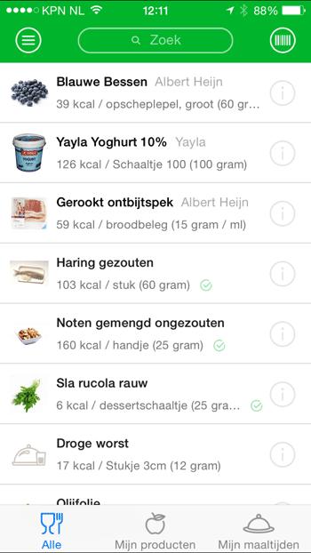 virtuagym-food-zoeken