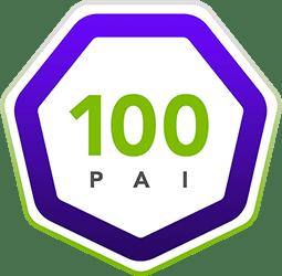 PAI 100 badge