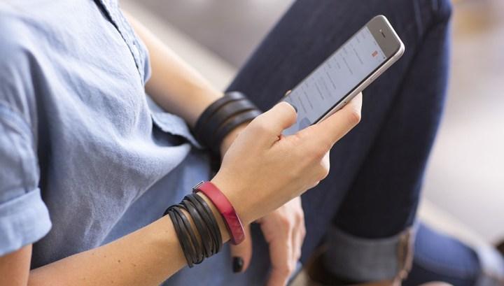 Jawbone UP met smartphone