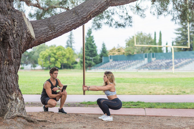 Axon fitnessstok in het park