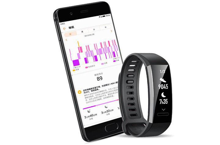 Huawei Band Pro 2 met smartphone