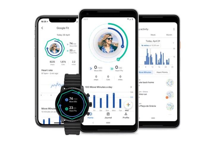 Google Fit op smartphone en Wear OS