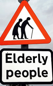 The wellbeing of people in their 60s increases as they reach the age of 70, according to a national survey.