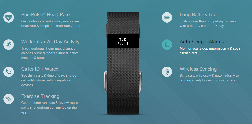 fitbit ChargeHR features