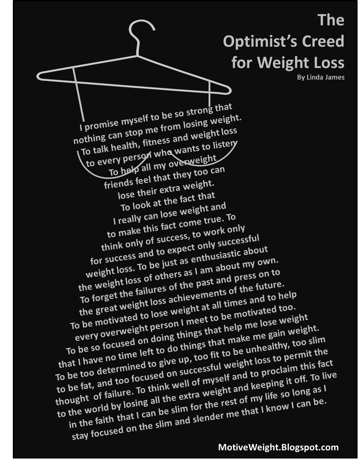 The Optimist S Creed For Weight Loss