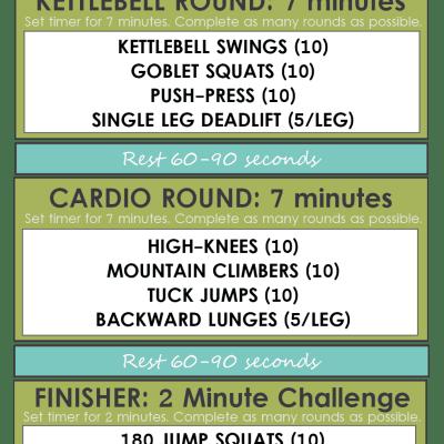 25 Minute Kettlebell Cardio Circuit