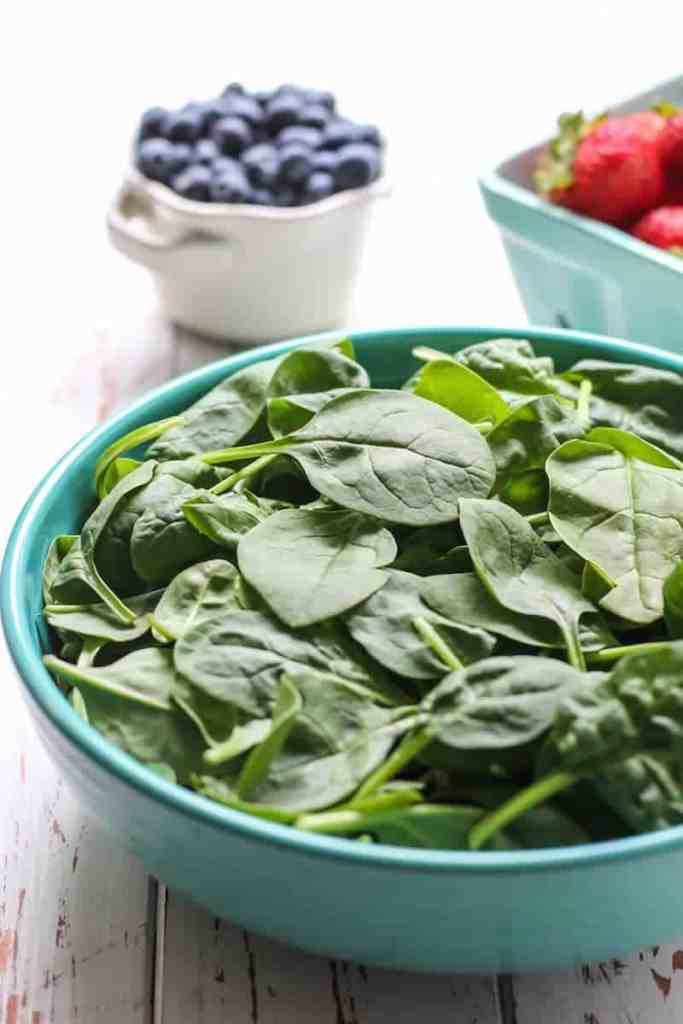 Summer Berry Spinach Salad. Quick, easy and healthy!