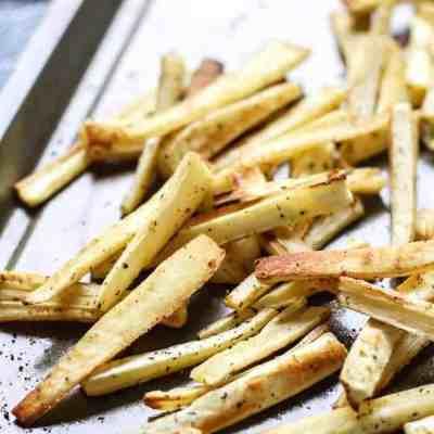 Easy Garlic Coconut Oil Parsnip Fries