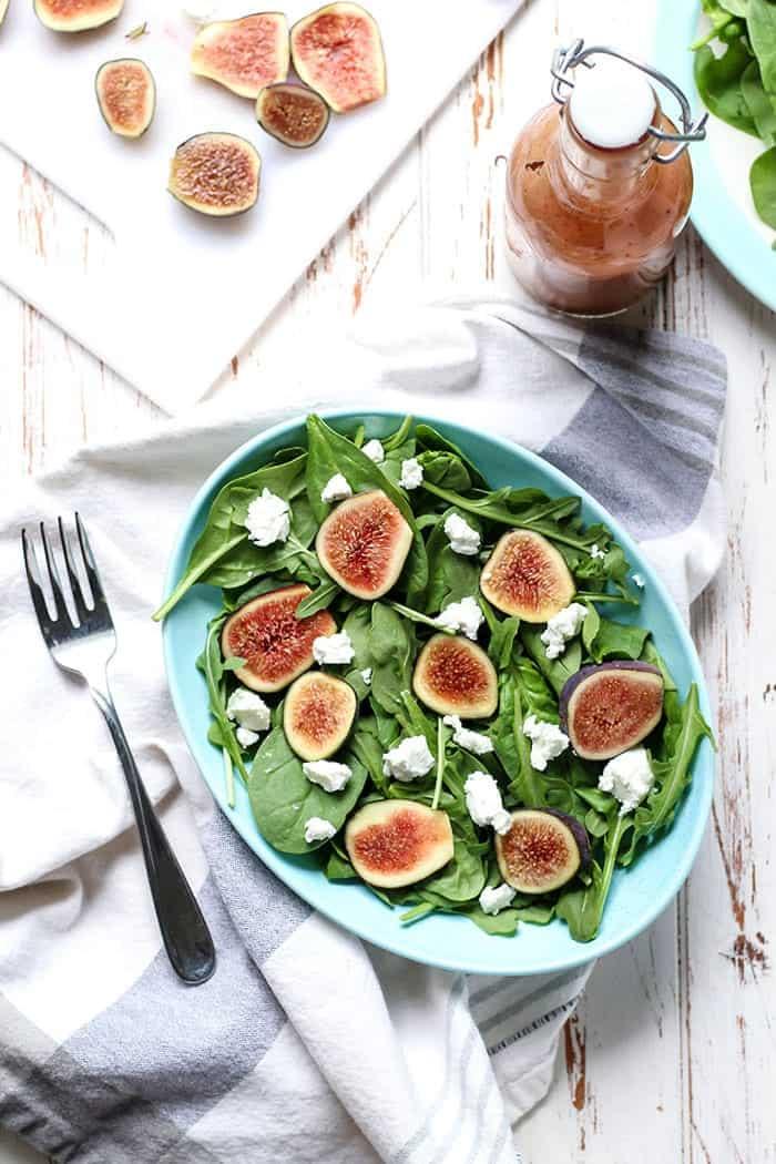 Goat Cheese Spinach Arugula Fig Salad-8