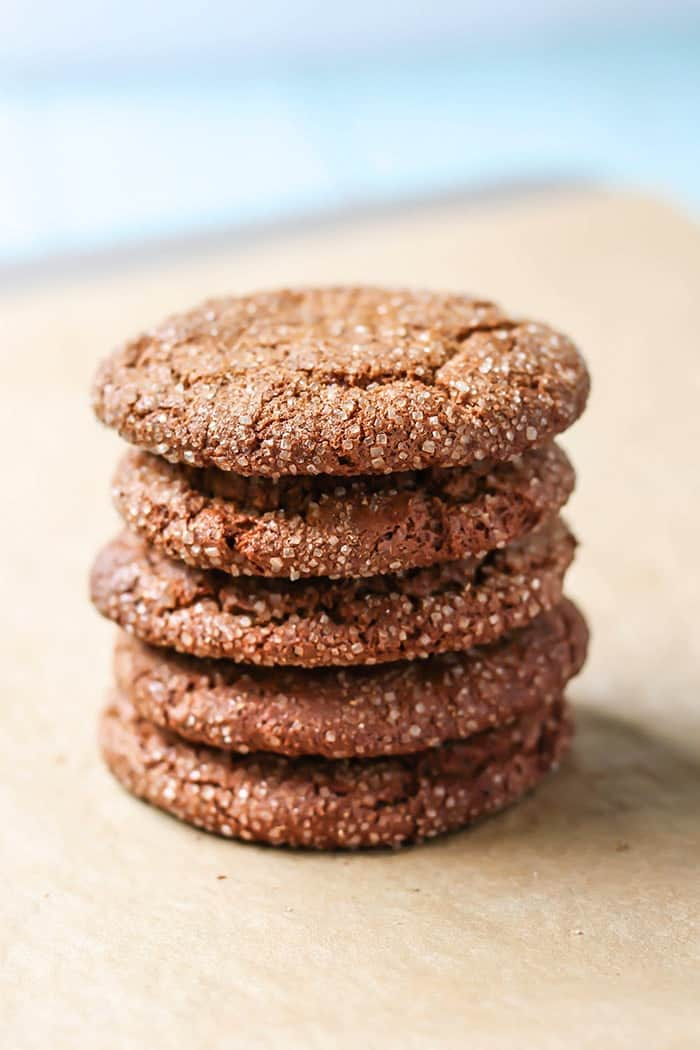 Crisp edges and chewy centers in these flourless, Paleo Spiced Almond Butter Cookies! Cinnamon, ginger, and cardamom make for a unique flavor combination. No flour necessary!