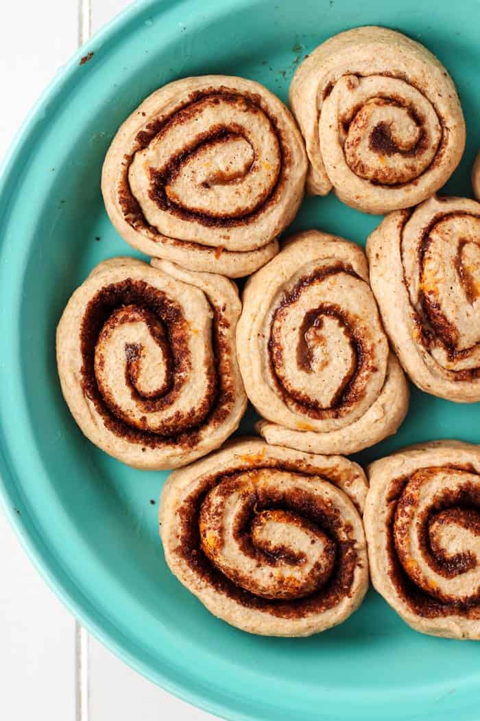 beautiful cinnamon rolls flavored with orange and cardamom! These rolls are a must. Vegan too!