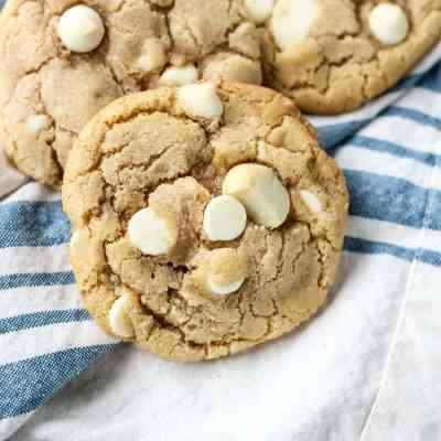 White Chocolate Chip Macadamia Nut Cookies [ dairy-free ]