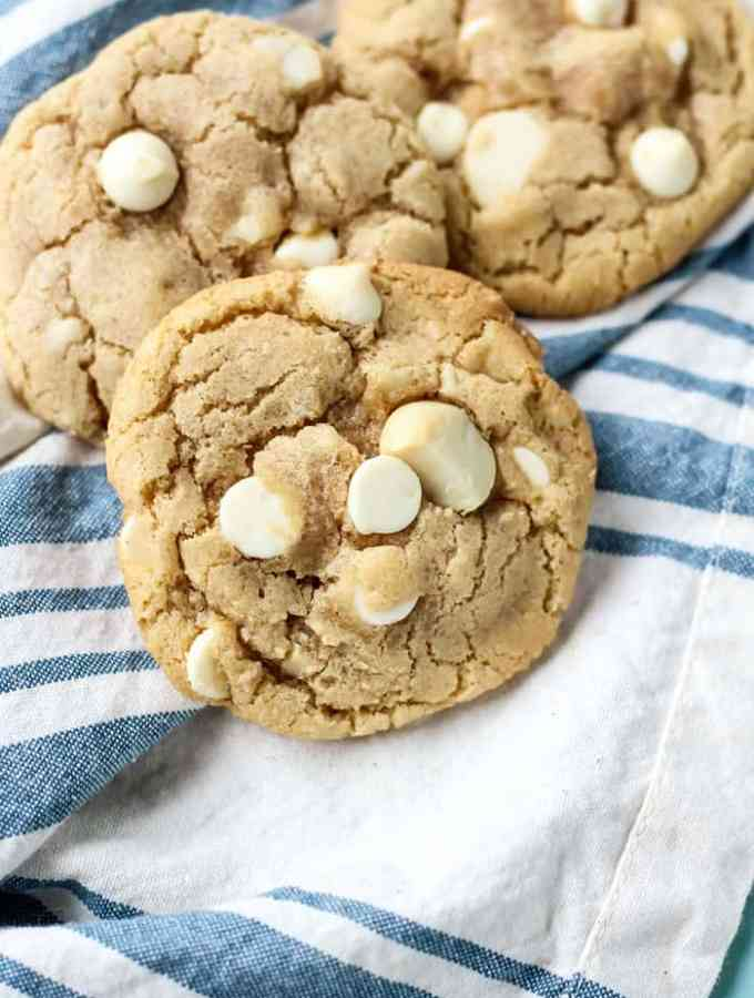 White Chocolate Macadamia Nut Cookies made dairy free!