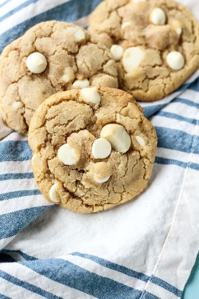White Chocolate Macadamia Nut Cookies made dairy free!