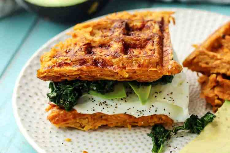 Paleo Sweet Potato Waffle Breakfast Sandwich [ Whole30 ]