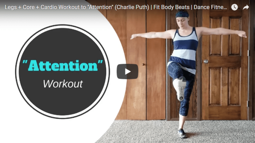 fit body beats attention charlie puth dance fitness zumba legs core cardio workout video
