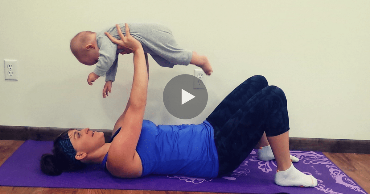 total body strength training postpartum workout to lose weight you can do with baby