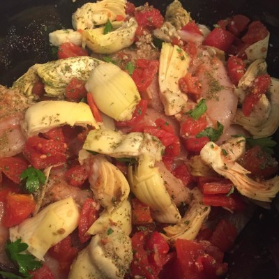 Slow Cooked Mediterranean Artichoke Chicken