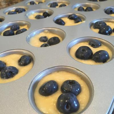 Berry Pancake Mini Muffins