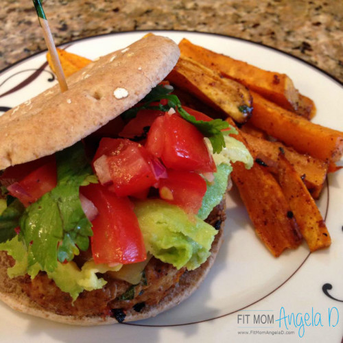 Southwest Avocado Turkey Burger