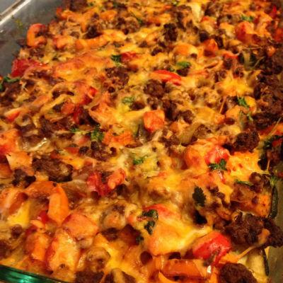 21 Day Fix Zucchini Mexican Lasagna