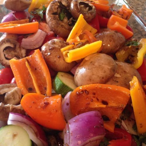 Grilled Marinated Veggies