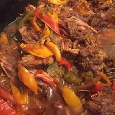 Slow Cooked Steak Fajitas