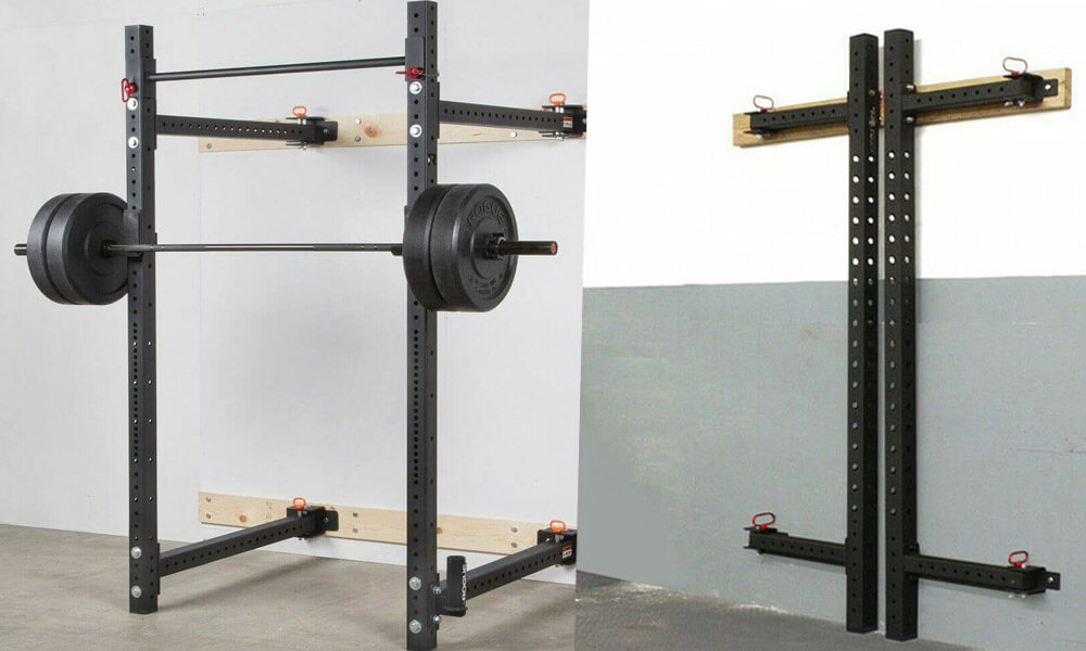 folding wall squat rack